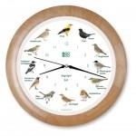Vogelstimmen-Uhr mit Funk - Holzrahmen