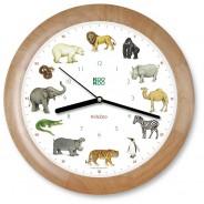 Kinderuhr – Zootiere – Holzrahmen