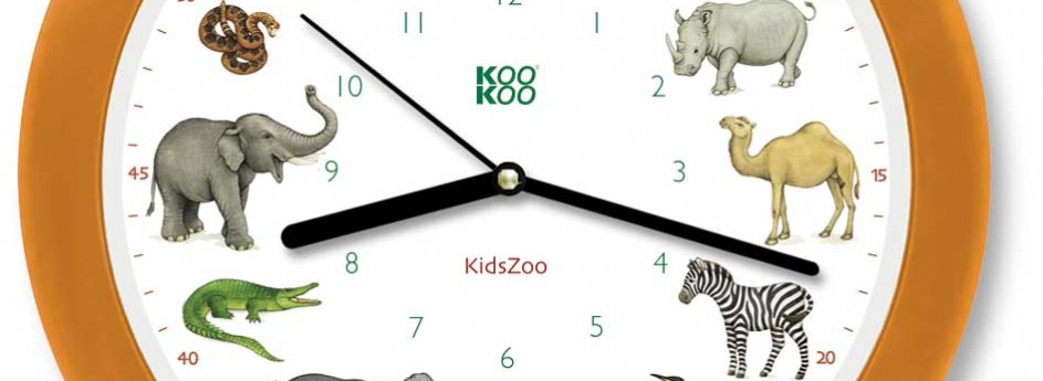 Kinderuhr – Zootiere – Kids Zoo