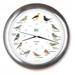 Vogelstimmen-Uhr mit Funk - Alurahmen